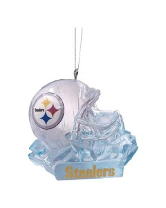 Pittsburgh Steelers Helmet Ice Sculpture Ornament