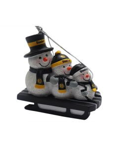 Pittsburgh Steelers Snowmen Sledding Ornament