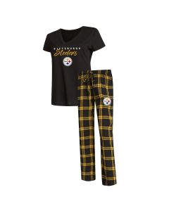 Pittsburgh Steelers Women's Troupe Short Sleeve Sleep Set