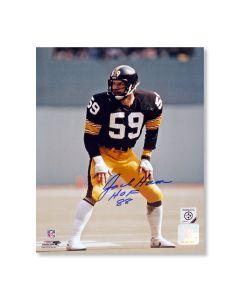 Pittsburgh Steelers #59 Jack Ham 'On the Turf at Three Rivers Stadium' Autographed 8x10 Photo