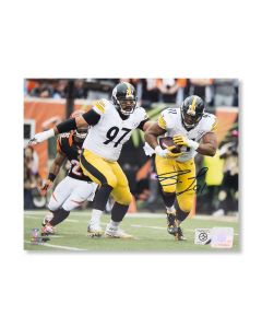 Pittsburgh Steelers #91 Stephon Tuitt 'In the Hands of a Giant, 1st PICK!' Autographed 8x10 Photo