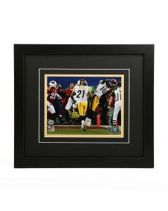 Pittsburgh Steelers Santonio Holmes Autographed & Framed Horizontal 8x10 Photograph