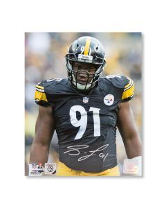 Pittsburgh Steelers #91 Stephon Tuitt 'Menacing!' Autographed 8x10 Photo