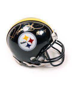 Pittsburgh Steelers #36 Jerome Bettis Signed Pittsburgh Steelers Mini Helmet