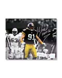 Pittsburgh Steelers #91 Kevin Greene 'Spotlight on Another Sack Celebration' Autographed 8x10 Photo