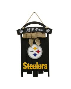 Pittsburgh Steelers Sled Wood Sign