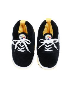 Pittsburgh Steelers Youth Plush Sneaker Slippers