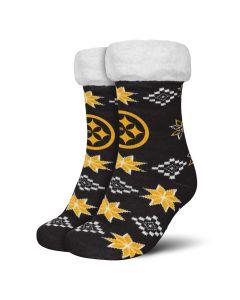 Pittsburgh Steelers Youth Ugly Sweater Footy Slipper Socks