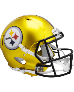 Pittsburgh Steelers Flash Gold Authentic Speed Helmet