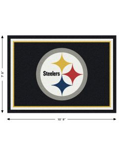 "Pittsburgh Steelers Team Spirit 7'8"" x 10'9"" Rug"