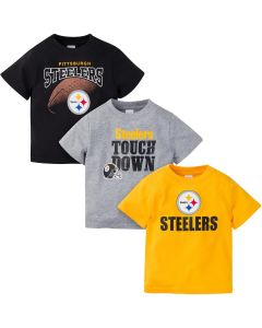 Pittsburgh Steelers Toddler Boy's Short Sleeve T-Shirts - 3 pack