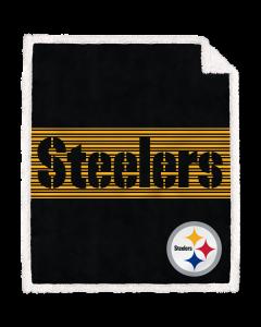 Pittsburgh Steelers 50x60 in. Center Stripe Sherpa Blanket