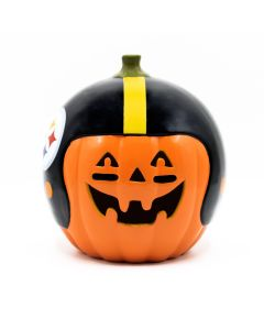 "Pittsburgh Steelers 10"" Ceramic Pumpkin"
