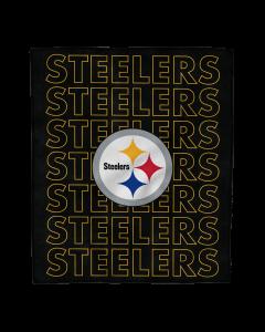 """Pittsburgh Steelers Echo Wordmark Prima Fleece 60""""x70"""" Throw"""