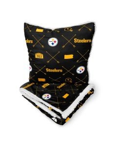 Pittsburgh Steelers Arrow Flannel Blanket and Pillow Set