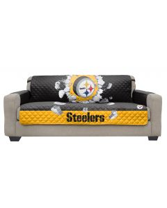 Pittsburgh Steelers 3D Explosion Reversible Sofa Protector