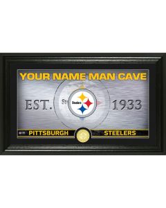 Pittsburgh Steelers Framed 10x18 Custom Man Cave Photo Mint
