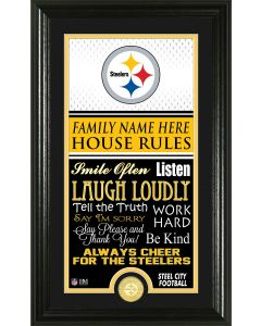 Pittsburgh Steelers Framed 10x18 Custom House Rules Photo Mint
