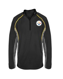 Pittsburgh Steelers Men's Big & Tall Colorblock Raglan Half Zip Jacket