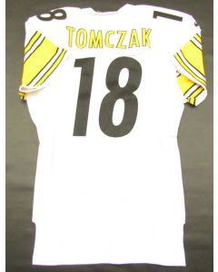 Pittsburgh Steelers 2000 Team Issued #18 Mike Tomczak Away Jersey