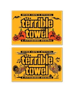 Pittsburgh Steelers Halloween and Thanksgiving 2 Piece Magnets