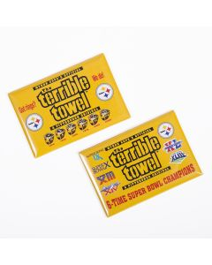 Pittsburgh Steelers Terrible Towel Got Rings & 6X Champs 2pc. Magnets