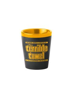 Pittsburgh Steelers Terrible Towel Matte Black Shot Glass