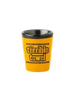 Pittsburgh Steelers Terrible Towel Matte Gold Shot Glass