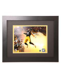 Pittsburgh Steelers #90 T.J. Watt Signed Framed Smoke Jump 8x10 Photo