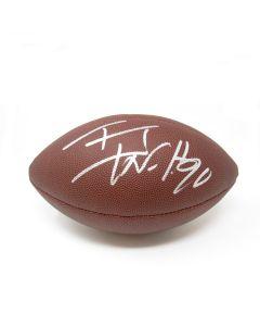 Pittsburgh Steelers #90 T.J. Watt Autographed NFL 'The Duke' Replica Football