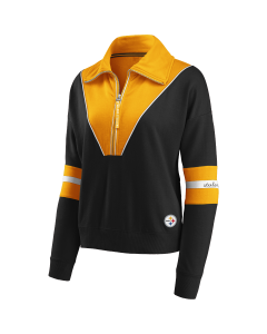 Pittsburgh Steelers Women's Colorblock 1/2 Zip Fleece
