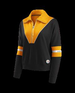 Pittsburgh Steelers Women's Colorblock 1/2 Zip Fleece