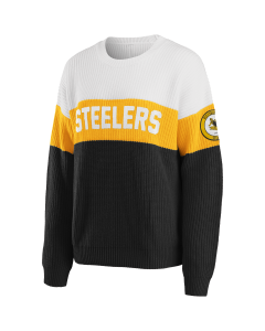 Pittsburgh Steelers Women's Colorblock Pull Over Sweater