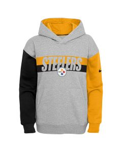 Pittsburgh Steelers Youth Nike Colorblock Pullover Hoodie