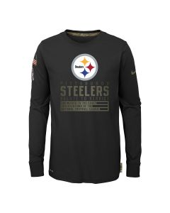 Pittsburgh Steelers Youth 2020 Nike Salute to Service (STS) Long Sleeve T-Shirt