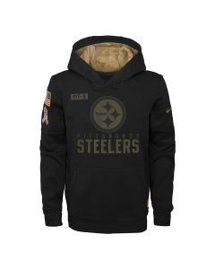 Pittsburgh Steelers Nike Youth 2020 Salute to Service (STS) Therma Hoodie