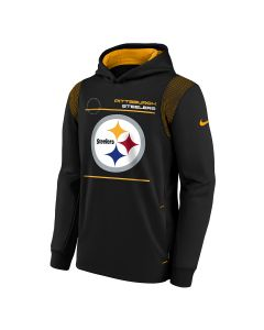 Pittsburgh Steelers Youth Nike Sideline Therma Pullover Hoodie
