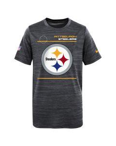 Pittsburgh Steelers Boy's Nike Velocity Sideline Short Sleeve T-Shirt
