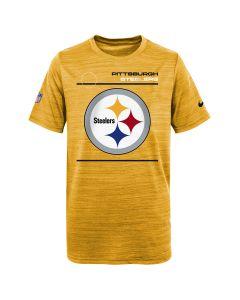 Pittsburgh Steelers Boy's Nike Velocity Sideline Short Sleeve Gold T-Shirt