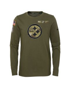 Pittsburgh Steelers Youth 2021 Nike Salute to Service (STS) Long Sleeve T-Shirt