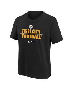 Pittsburgh Steelers Youth Nike Hypo Drip Steel City Football Short Sleeve T-Shirt
