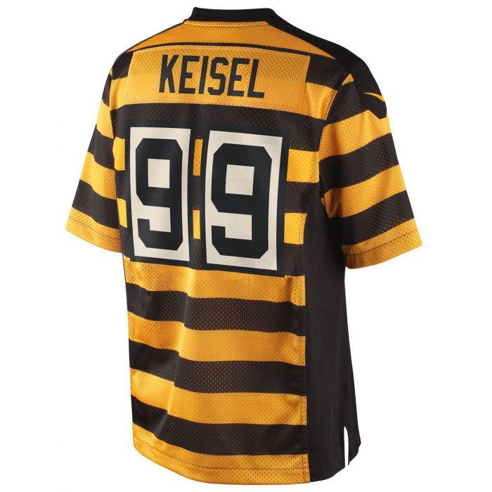 Pittsburgh Steelers Nike Brett Keisel Replica Third Jersey