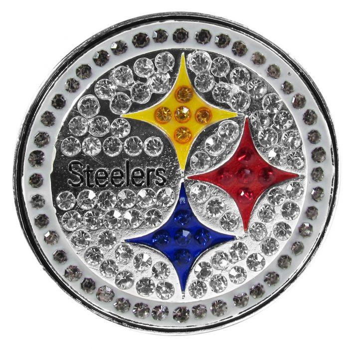Pittsburgh Steelers Crystal Logo Lapel Pin