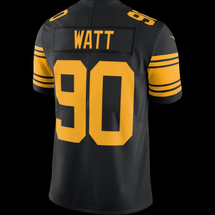 TJ Watt #90 Men's Nike Limited Color Rush Jersey
