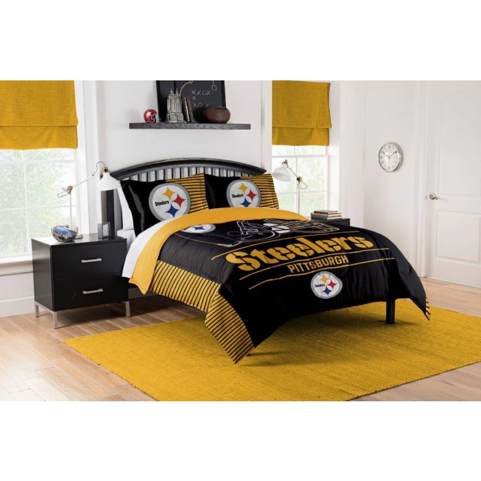 Pittsburgh Steelers King Bedding 3 Piece Set
