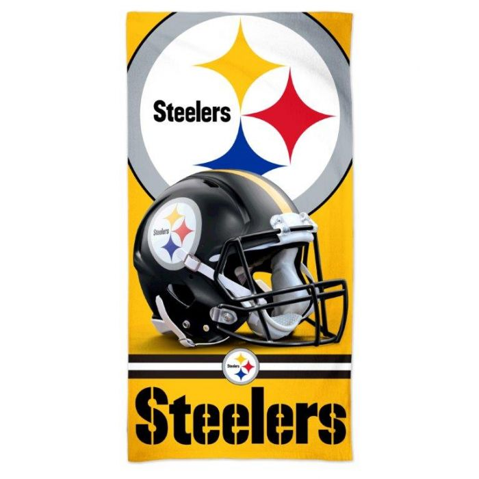 Pittsburgh Steelers Helmet Logo Beach Towel