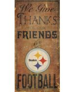 Pittsburgh Steelers 'We Give Thanks' Wood Sign