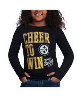 Pittsburgh Steelers Girls Cheer to Win Long Sleeve Tee