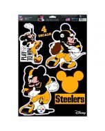 Pittsburgh Steelers Steel City Mickey 4 Piece Decal Sheet