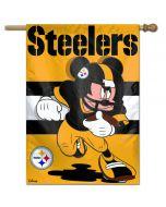 Pittsburgh Steelers Steel City Mickey 28x40 Banner